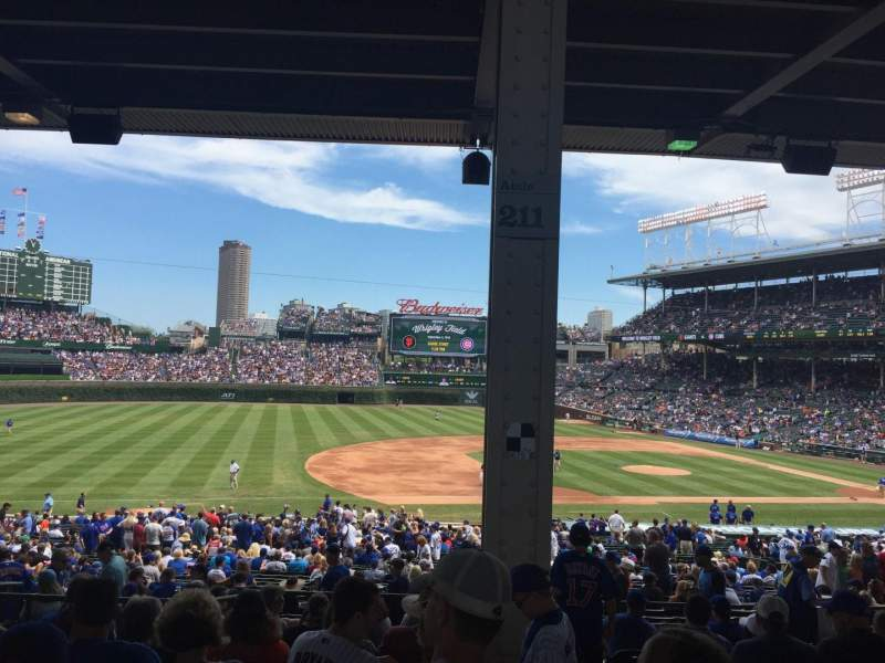 Seating view for Wrigley Field Section 211 Row 11 Seat 102