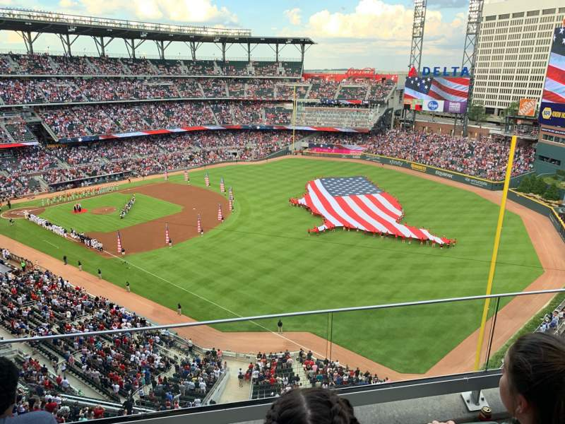 Seating view for SunTrust Park Section 412 Row 3 Seat 11