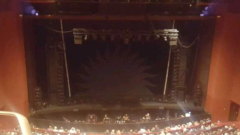 Seating view for San Diego Civic Theatre Section balcony c Row p Seat 13