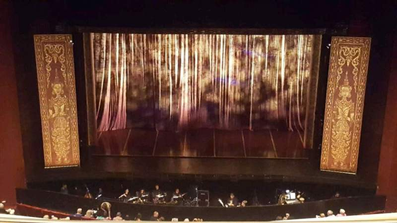 Seating view for San Diego Civic Theatre Section balcony r Row r Seat 2