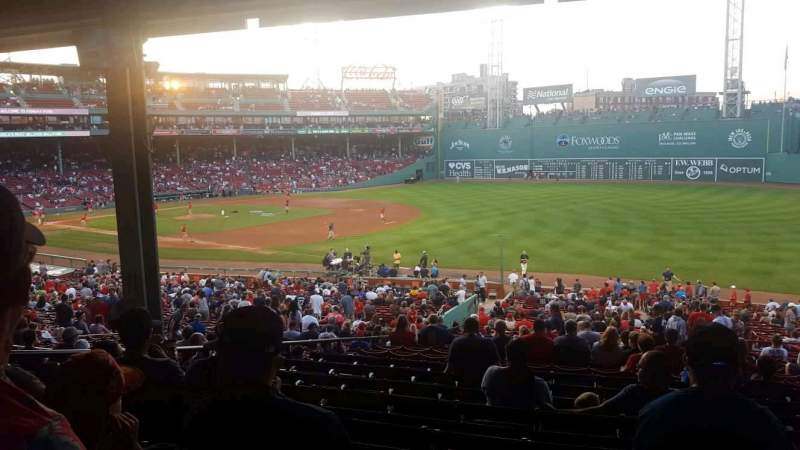 Fenway Park, section: grandstand 10, row: 11, seat: 7
