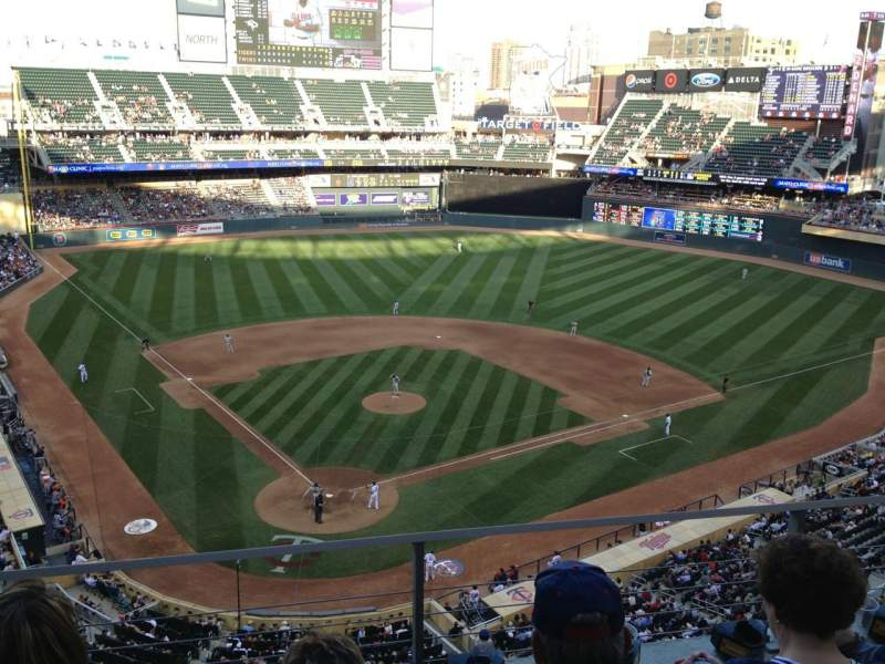 Seating view for Target Field Section 213 Row 3 Seat 14