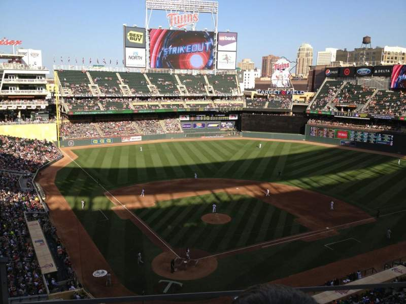 Seating view for Target Field Section 213 Row 3 Seat 15