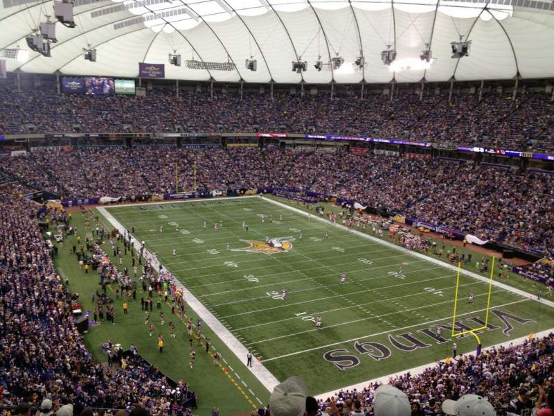 Seating view for Mall Of America Field Section 203 Row 20 Seat 15