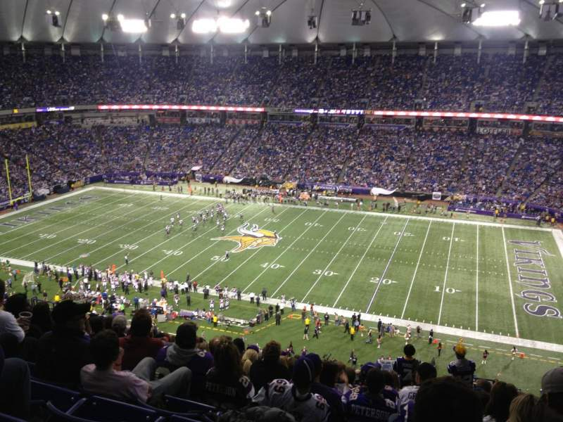 Seating view for Mall Of America Field Section 208 Row 21 Seat 3
