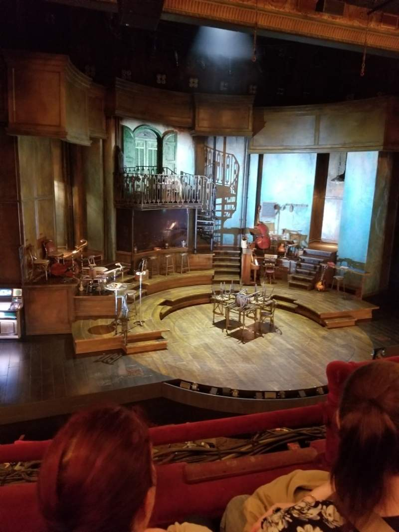 Seating view for Walter Kerr Theatre Section Mezzanine L Row B Seat 5