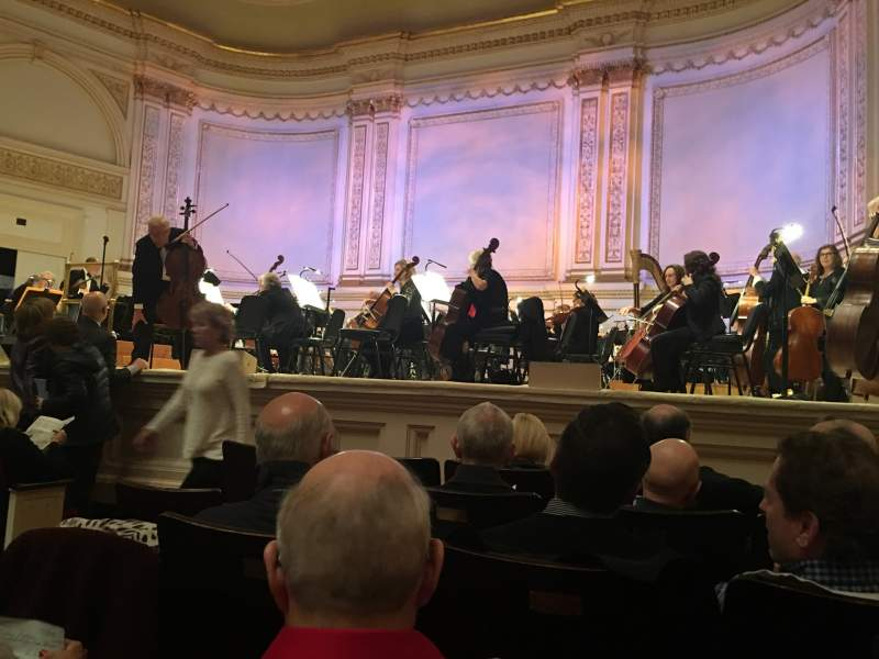 Seating view for Carnegie Hall Section Parquet R Row E Seat 1O