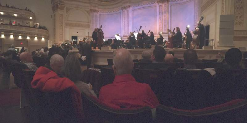 Seating view for Carnegie Hall Section Parquet R Row E Seat 10