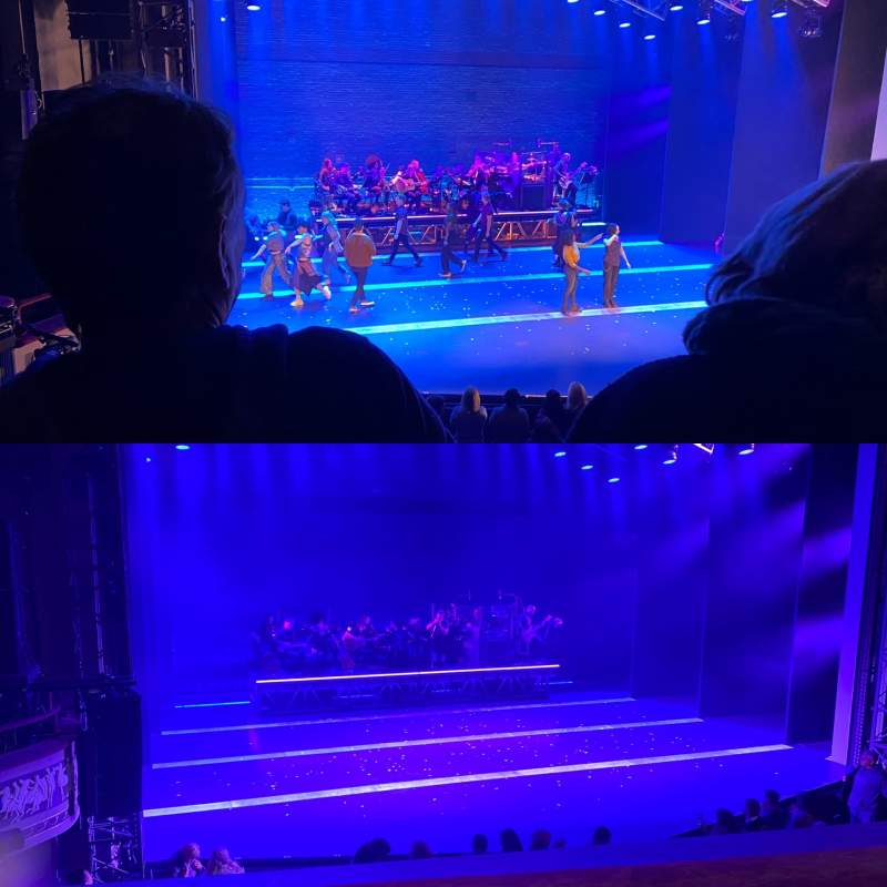 Seating view for Broadhurst Theatre Section Mezzanine L Row B Seat 5