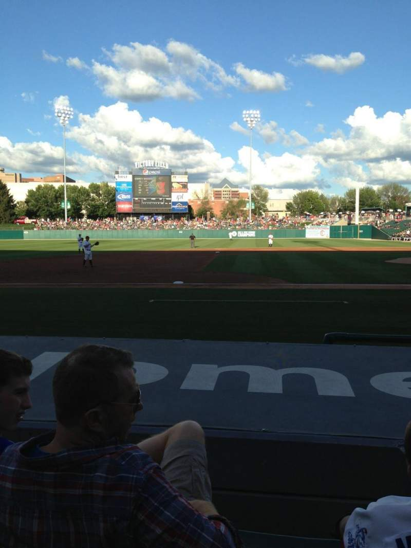 Seating view for Victory field Section 108 Row G Seat 14