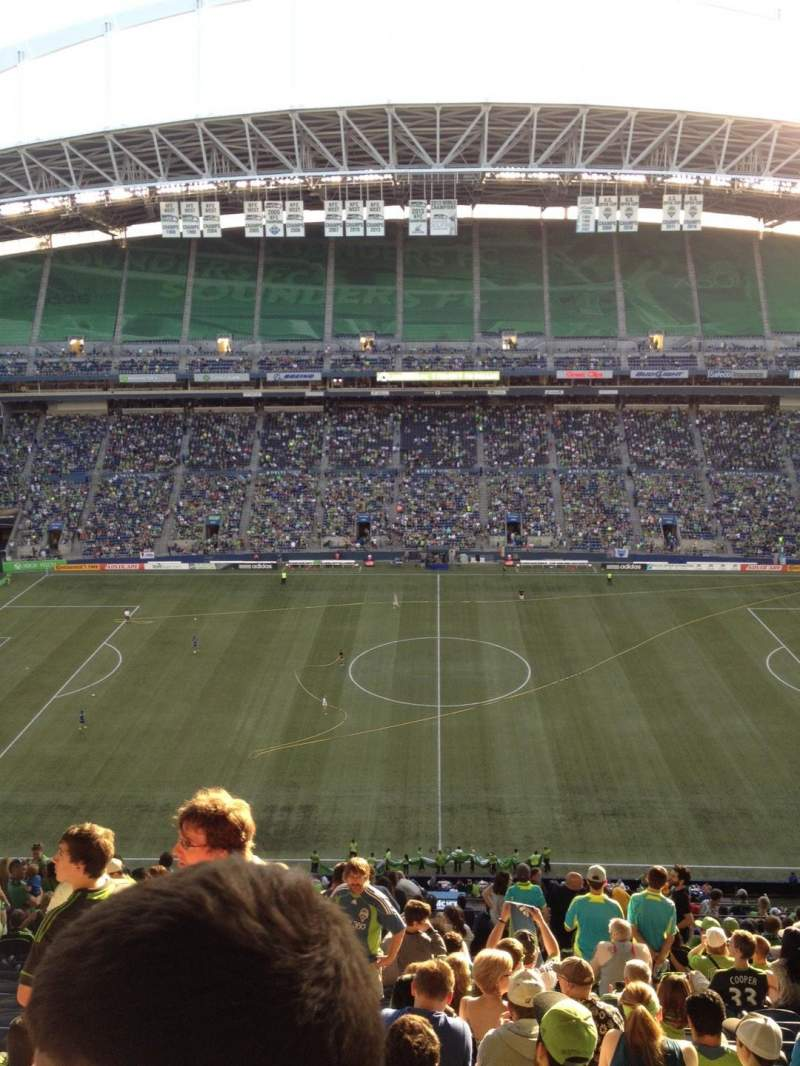 Seating view for CenturyLink Field Section 309 Row X Seat 14
