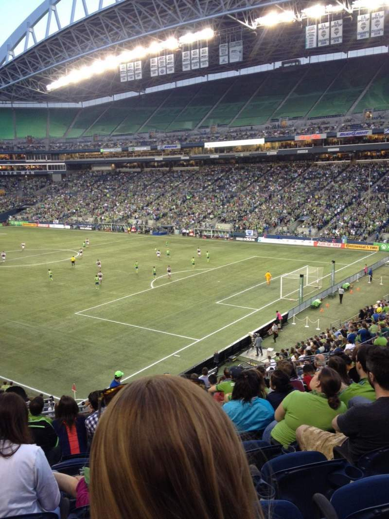 Seating view for CenturyLink Field Section 101 Row X Seat 14