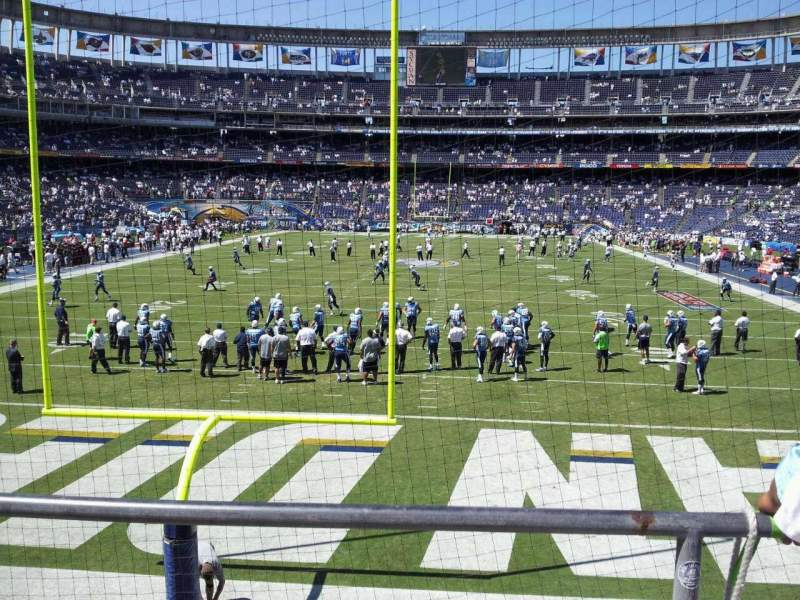 Seating view for Qualcomm Stadium Section P52 Row 3 Seat 10