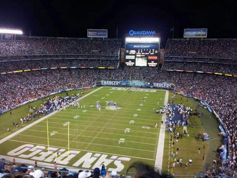 Seating view for Qualcomm Stadium Section V24 Row 10 Seat 9