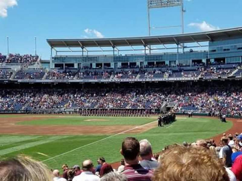 Seating view for TD Ameritrade Park Section 122 Row 18 Seat 17