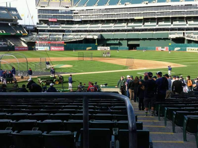 Seating view for Oakland Alameda Coliseum Section 115 Row 22 Seat 1