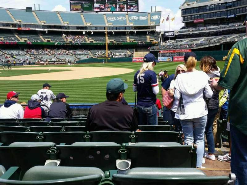 Seating view for Oakland Alameda Coliseum Section 109 Row 9 Seat 1