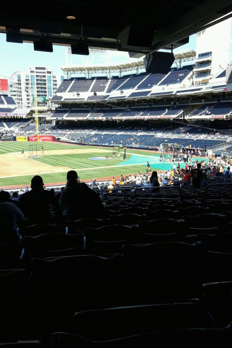 Seating view for PETCO Park Section 114 Row 42 Seat 7