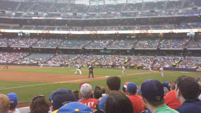 Seating view for Miller Park Section 126 Row 7 Seat 13