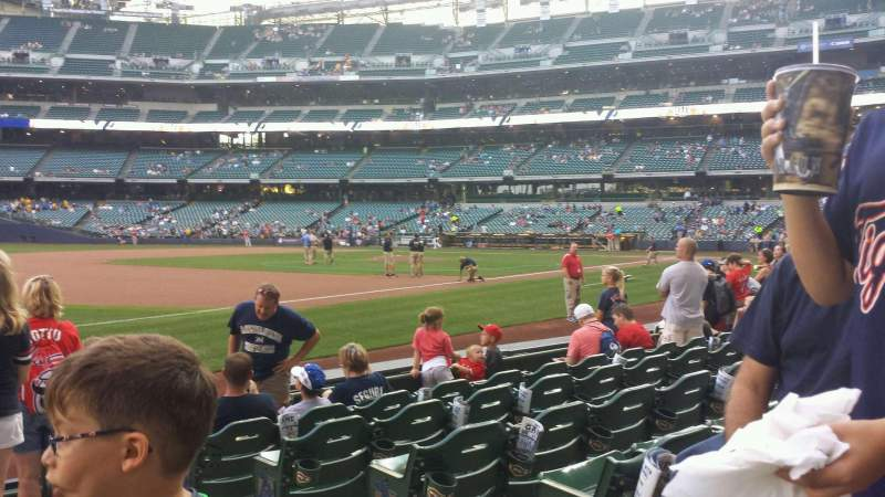 Seating view for Miller Park Section 126 Row 7 Seat 3