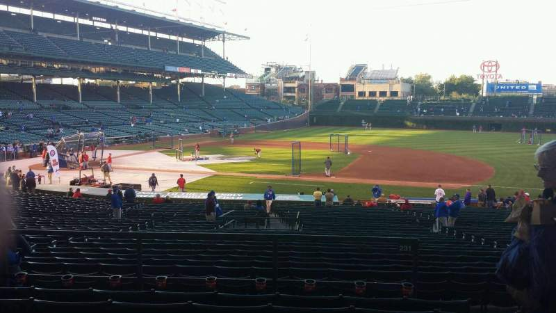 Seating view for Wrigley Field Section 225 Row 6 Seat 19