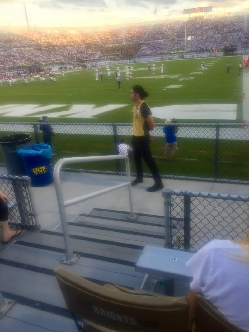 Seating view for Bright House Networks Stadium Section 117 Row D Seat 12 and 13