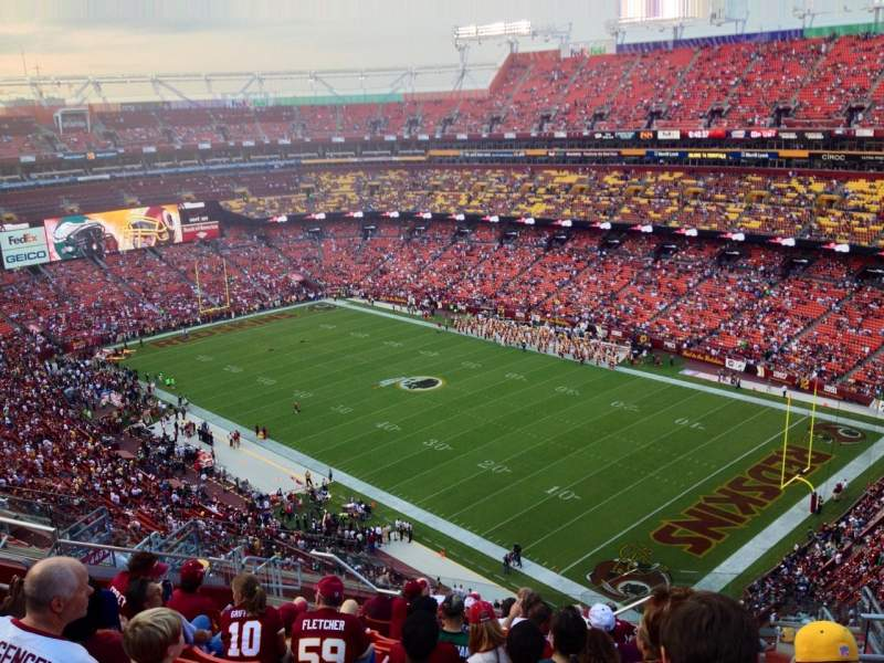 Seating view for FedEx Field Section 448 Row 14 Seat 7