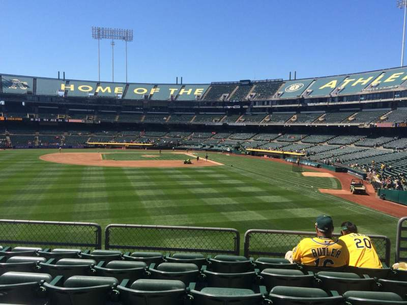 Seating view for Oakland Coliseum Section 135 Row 33 Seat 5