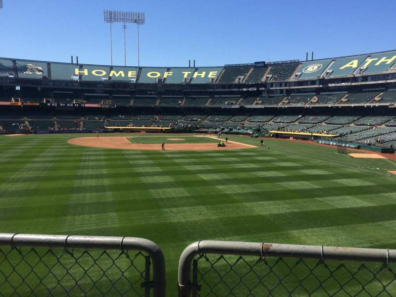 Seating view for Oakland Coliseum Section 136 Row 28 Seat 4