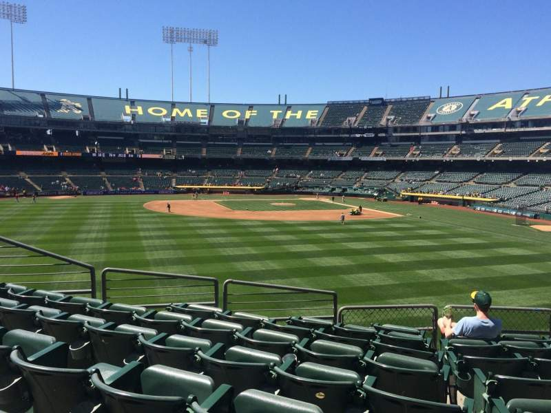 Seating view for Oakland Alameda Coliseum Section 137 Row 34 Seat 7