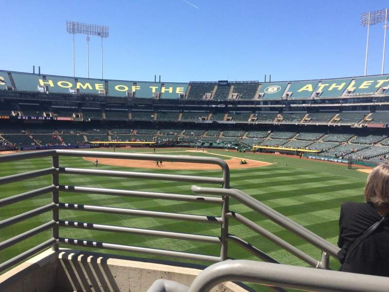 Seating view for Oakland Coliseum Section 139 Row 40 Seat 6