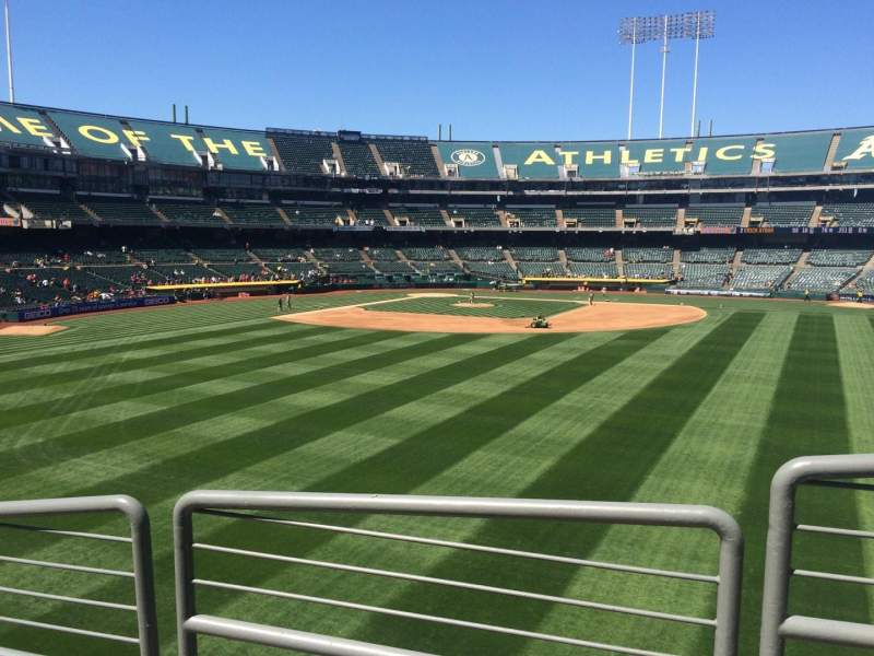 Seating view for Oakland Coliseum Section 146 Row 36 Seat 9