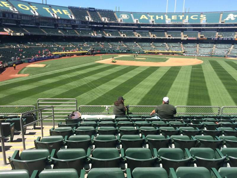 Seating view for Oakland Coliseum Section 148 Row 36 Seat 14