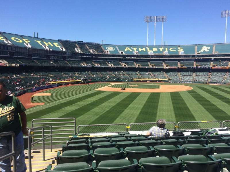 Seating view for Oakland Coliseum Section 149 Row 35 Seat 16