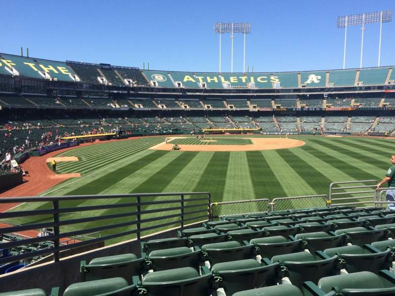 Seating view for Oakland Alameda Coliseum Section 150 Row 36 Seat 13