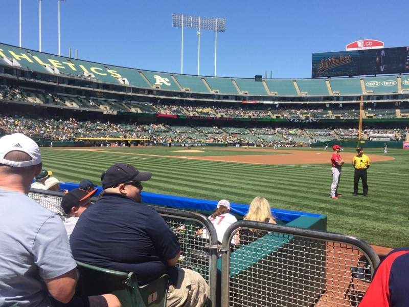 Seating view for Oakland Alameda Coliseum Section 108 Row 3 Seat 14