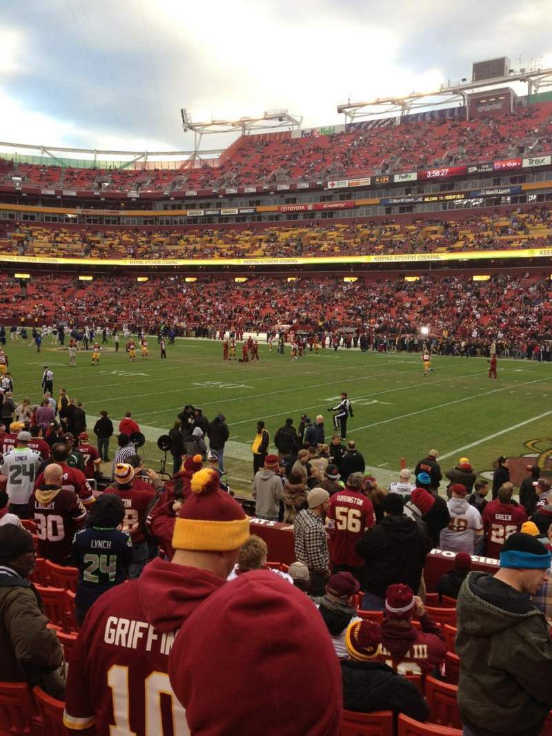 Seating view for FedEx Field Section 117 Row 11 Seat 4