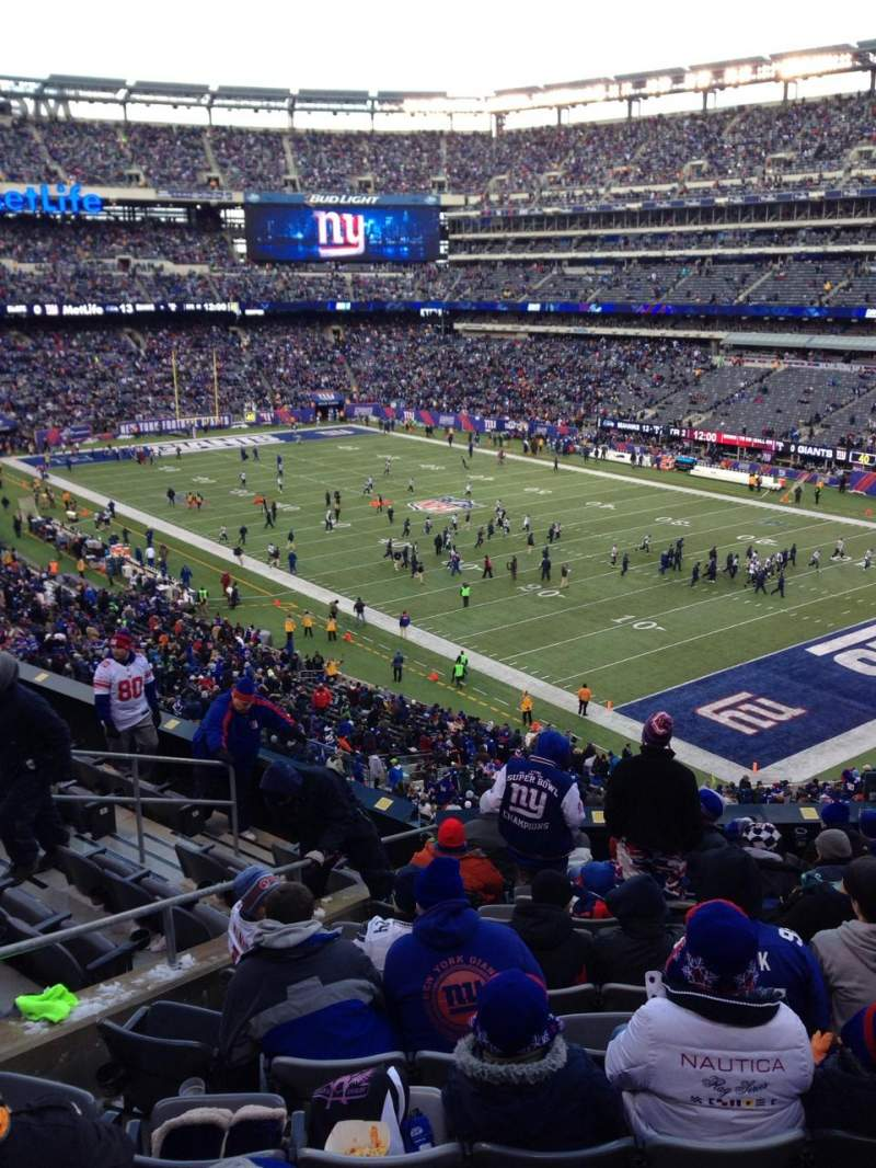 Seating view for MetLife Stadium Section 232a Row 11 Seat 9
