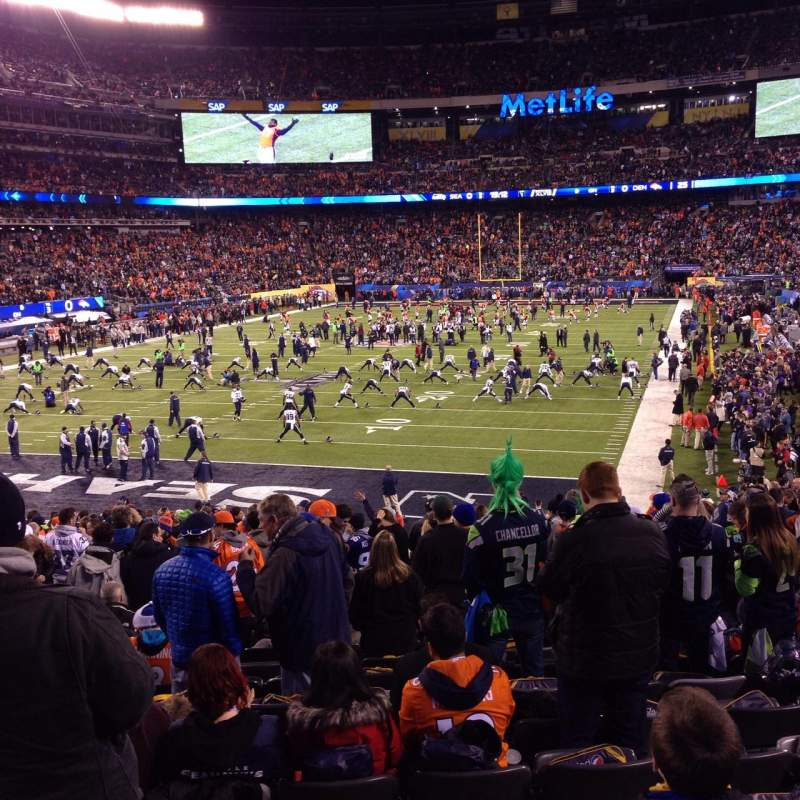 Seating view for MetLife Stadium Section 148 Row 27 Seat 22
