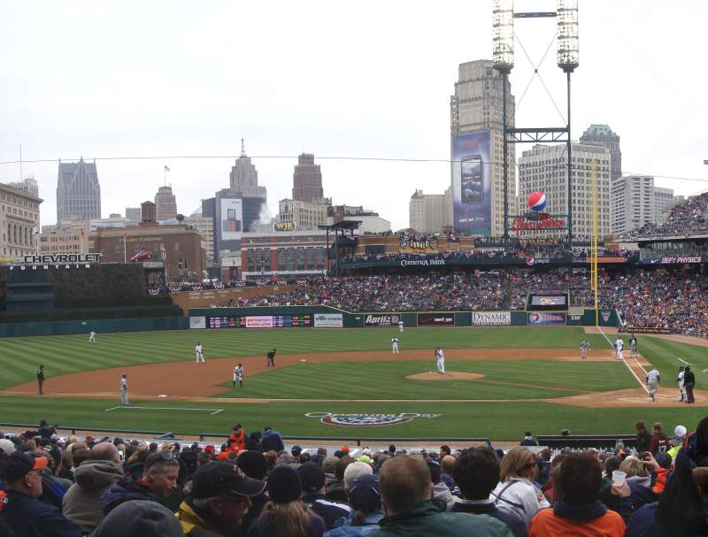 Seating view for Comerica Park Section 132 Row 33 Seat 1