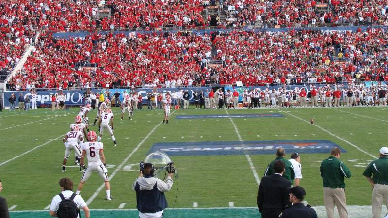 Seating view for Camping World Stadium Section 133 Row D