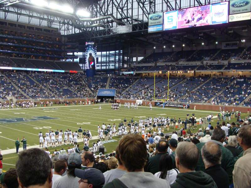 Seating view for Ford Field Section 125 Row 23