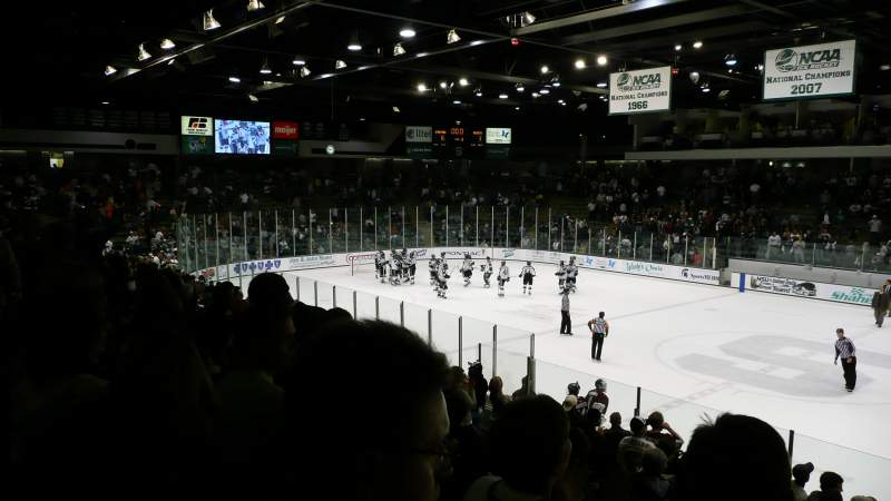 Seating view for Munn Ice Arena Section H Row 14 Seat 16