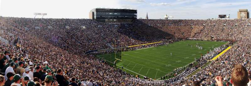 Seating view for Notre Dame Stadium Section 115 Row 18 Seat 16