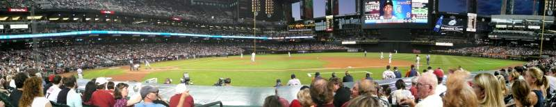 Seating view for Chase Field Section E Row 4