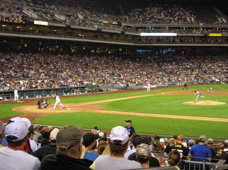 Seating view for PNC Park Section 109 Row H