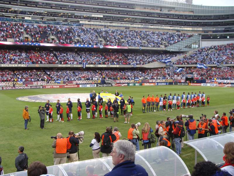 Seating view for Soldier Field Section 140 Row 4 Seat 7