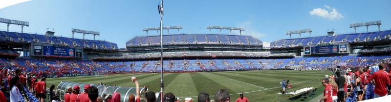 Seating view for M&T Bank Stadium Section 127 Row 3 Seat 20