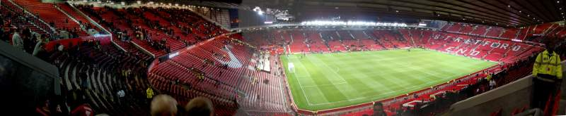 Seating view for Old Trafford Section NE3424 Row 31 Seat 19