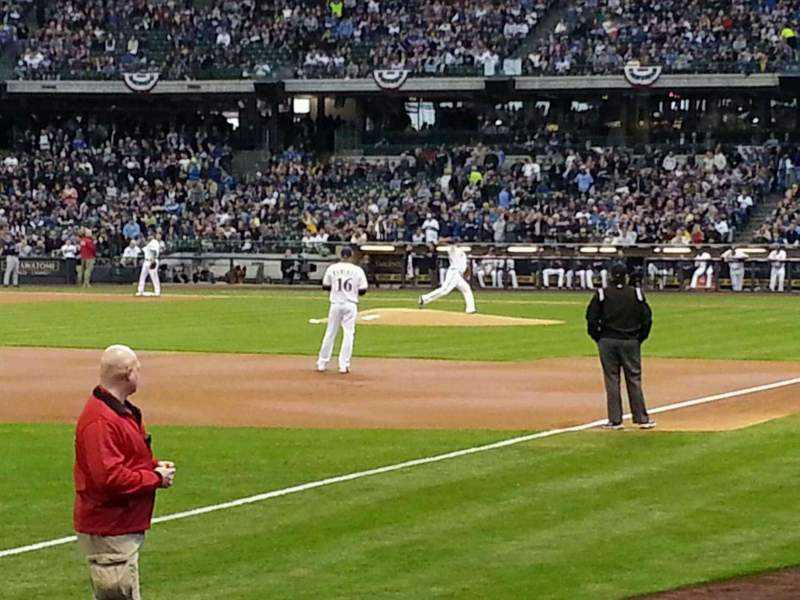 Seating view for Miller Park Section 127 Row 4